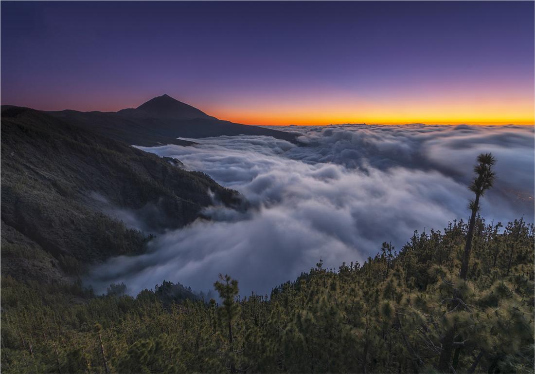 Mar de nubes, Tenerife, norte de la isla, montaña, medianias,
